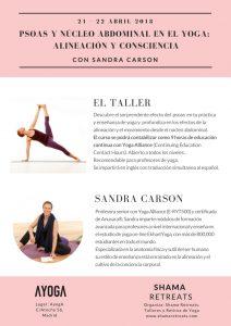 PSOAS Y NÚCLEO ABDOMINAL EN EL YOGA: ALINEACIÓN Y CONSCIENCIA CON SANDRA CARSON @ Ayoga | Madrid | Comunidad de Madrid | España