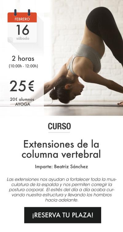 Extensiones de la columna vertebral